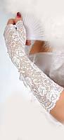 Свадебные Перчатки L1 кружева