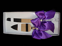 Нож с лопаткой Фиолетовый бант