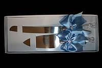 Свадебный нож с лопаткой Голубой бант