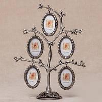 "Фоторамка семейное древо в подарок ""Семейное дерево"" на 5 фото"