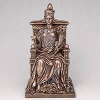 "Бронзовая статуэтка ""Фортуна на троне"" 27 см"