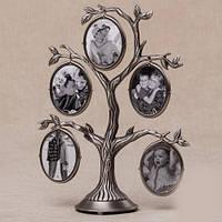 Семейное древо фоторамка на 5 фото