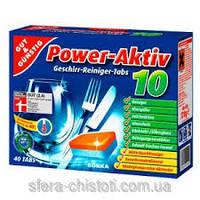Таблетки для посудомоечных машин  Power-Aktiv Павер Актив 40 шт