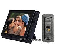 """Домофон DP-806 черный 8"""" Sony с записью на SD карточу"""