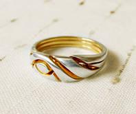 Кольцо из серебра и золота «Раскол Солнца» от Wickerring