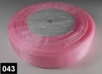 Лента органза 2,5 см нежно-розовая