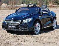 Детский электромобиль Mercedes S63 AMG черного цвета
