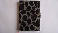 """Ежедневник деловой кожзам """"Леопард"""", А5,160стр.клетка ,ПВХ,глянець,обложка.Записная книга деловая с картой Укр"""