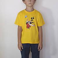 Футболка детская желтая, размеры от3 до 6 лет, 100% хлопок, козак, очень хорошего качества!