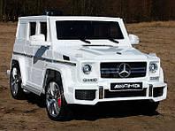 Детский электромобиль Mercedes G63 AMG белого цвета