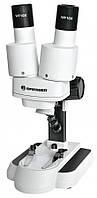 Мікроскоп бінокулярний стереоскопічний BRESSER BIOLUX ICD 20X 2х //10х LED