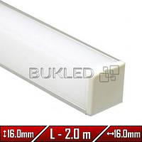 Алюминиевый профиль 16,0 х 16,0 мм