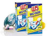 WC Таблетки для чистки колена унитаза W5  16 шт.