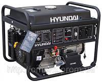 Бензиновый генератор Hyundai HHY 7000FE + колеса со счетчиком моточасов KOR, фото 1