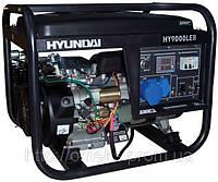 Бензиновый генератор Hyundai HHY 9000 FE ATS + колеса со счетчиком моточасов KOR