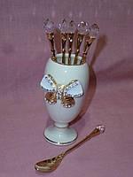 """Набор кофейных ложек на подставке """"Принцесса"""" 6 штук"""