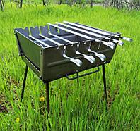 Складной мангал чемодан на 6 шампуров (разборной, переносной). 2,5мм. Новый!