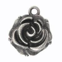 Подвеска металлическая, Бутон розы, 114х18мм
