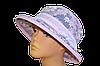 Шляпа женская Любава х/б размытые цветы фиолетовые