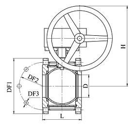 Кран 11с342п Ду125-200 (с редуктором) вода,газ,нефтепродукты