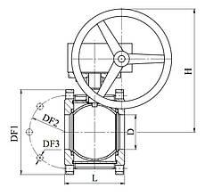 Кран шаровый стальной 11с342п Ду 125/100