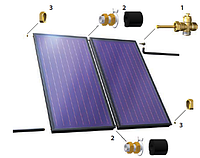 Присоединительные фитинги для плоских солнечных коллекторов Hewalex KS 2000 TLP
