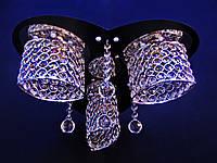 Хрустальные люстры не классические CR (хром)  P5-S1025/3/CH+BK