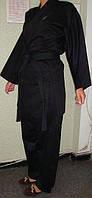 Кимоно карате черное р.160 см, 170 см 14ун. KAMAKURA