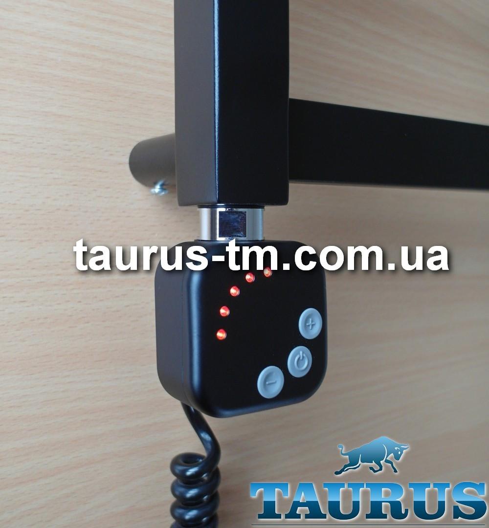 Чёрный ТЭН HeatQ black квадратной формы. Регулятор 30-60C + таймер 2 ч. (2 режима) + LED; Польща. Поворотный