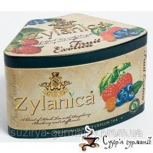 Черный чай Zylanica с малиной, черникой и цветами сафлора 100г ж/б, фото 1