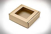 Коробка для печенья, конфет и изделий Hand Made, 100х100х30 мм, бурая