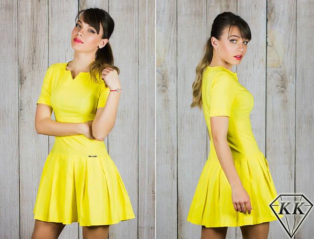 Желтое платье 15887, фото 2