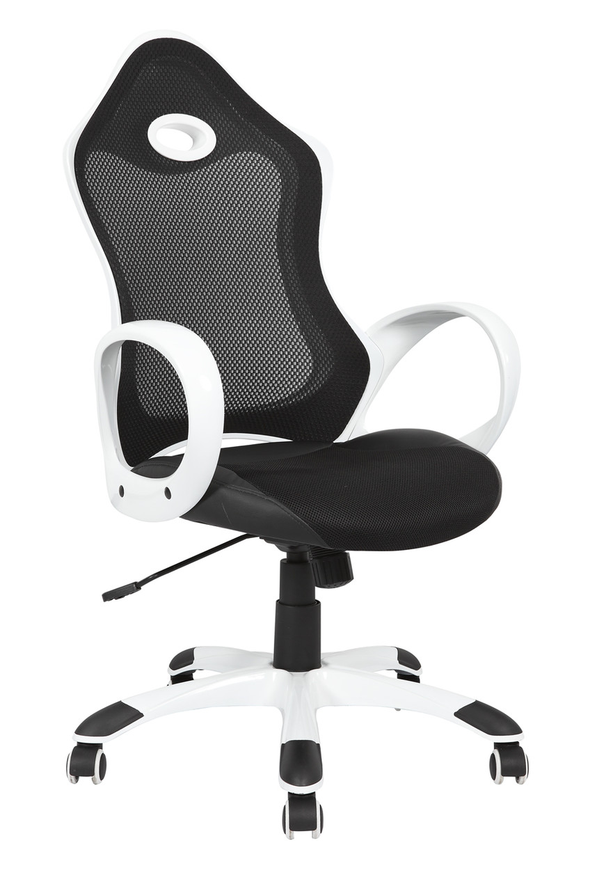 Кресло Матрикс-1 Черный, сиденье Сетка черная/спинка Сетка серая