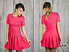 Малиновое платье 15887