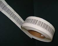 Защитная этикетка 3х4, штрих-код, белая. (1000 шт)