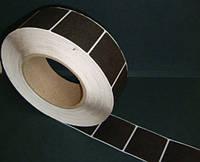 Защитная этикетка 4х4, (1000 шт), штрих-код, белая, черная., фото 1