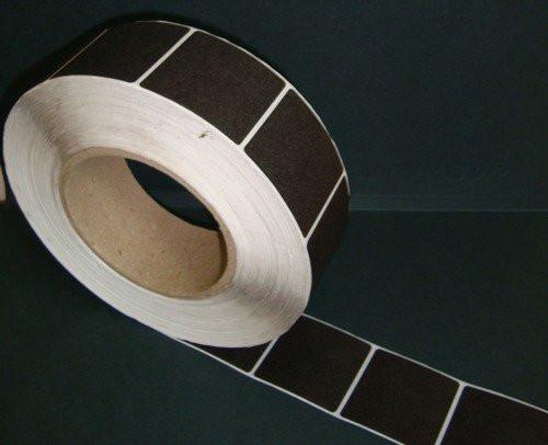 Защитная этикетка 4х4, (1000 шт), штрих-код, белая, черная.