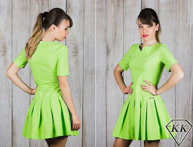 Фисташковое платье 15887, фото 2
