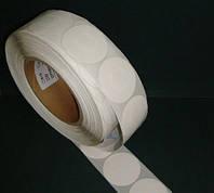 Защитная этикетка круглая, (1000шт). штрих-код, белая, черная, фото 1