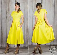 Желтое платье 15886