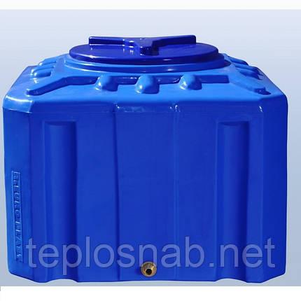 Пластиковый бак (емкость квадратная) RK 200 К/куб двухслойная, фото 2
