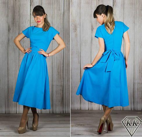 Голубое платье 15886, фото 2