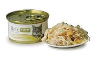 Брит Кер с куриной грудкой и сыром, 80гр, консервы для кошек, суперпремиум