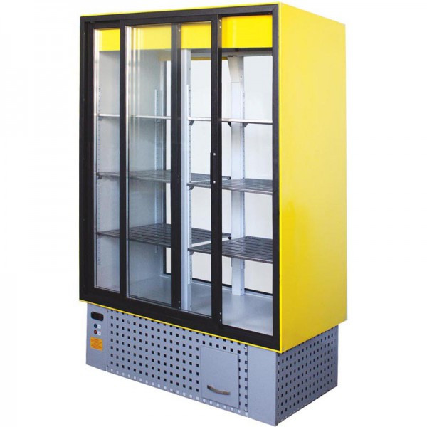 Шкаф холодильный среднетемпературный  АйсТермо ШХС-0.8 СПС с раздвижными стеклянными дверьми