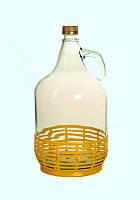 Бутыль 5 л с пластиковой корзиной