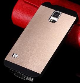 Чехол Золотой Motomo на Samsung GalaxyS4 (i9500)