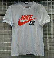 Мужская белая футболка Найк, футболки Украина