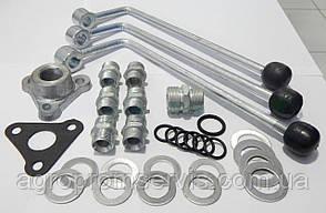 Комплект штуцеров, рычагов для подключения и установки гидрораспределителя Р-80, 3-х секционный МТЗ,ЮМЗ,Т-40, фото 2