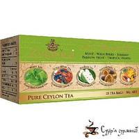Зеленый чай Zylanica Пять вкусов 2г*25 пакетиков