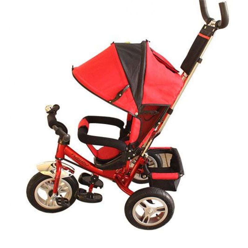 Детский трехколесный велосипед М 3113-3А надув.колеса, красный